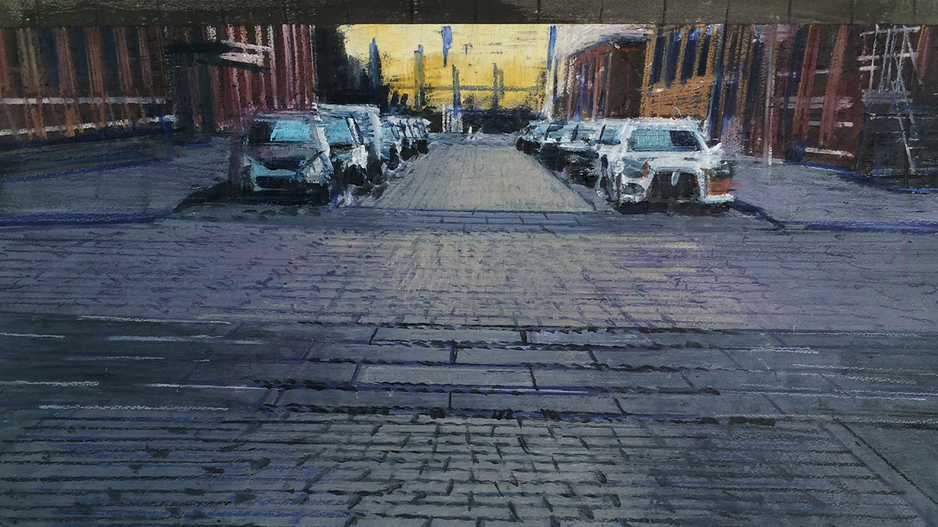 Washington Street   Private Collection   77in x 57in